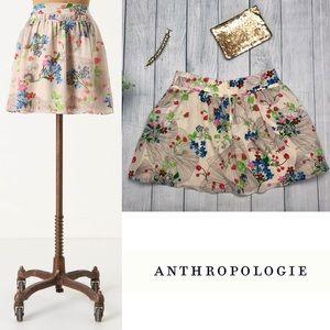 Anthro Leifsdottir Lingonberry Silk Miniskirt NWOT
